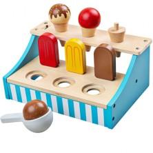 Prodejna - Stojánek se zmrzlinou dřevěný (Bigjigs)