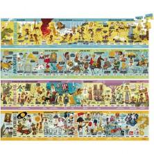 Puzzle z kartónu - Historie 4v1, 400 dílků (Vilac)