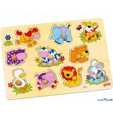 Puzzle vkládací - Roztomilá mláďata, 10ks (Goki)