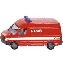 SIKU kovový model - Hasiči dodávka česká verze