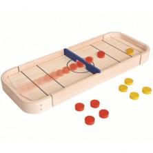 Stolní hra - Shuffleboard dřevěná (PlanToys)
