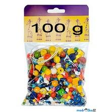 Navlékací perle - Mix perlí barevný 100g (Detoa)