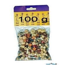Navlékací perle - Mix perlí hnědo-přírodní 100g (Detoa)