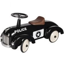Odrážedlo kovové - Historické auto, černé policie (Goki)