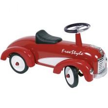 Odrážedlo kovové - Historické auto, červené free style (Goki)
