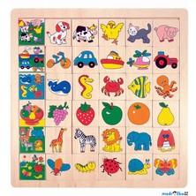 Puzzle výukové - Co kam patří, Ovoce, 36ks (Woody)
