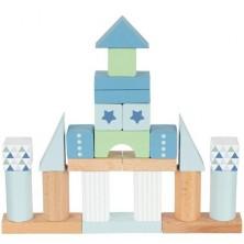 Kostky - Barevné v kyblíku, Lifestyle modrá, 50ks (Goki)