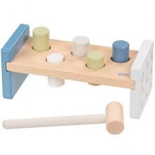 Zatloukačka - Lifestyle modrá dřevěná, 5 kolíků (Goki)