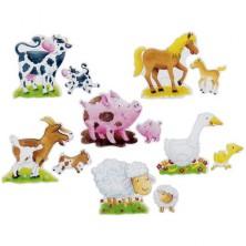 Puzzle pro nejmenší - Zvířátka z farmy karton XXL, 24ks (Goki)