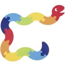 Puzzle podlahové - Had z filce, 12ks (Goki)