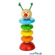Hračka pro batolata - Housenka na gumě (Detoa)