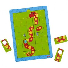 Puzzle magnetické - Hra hladový had (Goki)