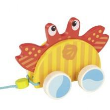Tahací hračka - Krab mořský dřevěný (Goki)