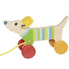 Tahací hračka - Jezevčík menší dřevěný (Goki)
