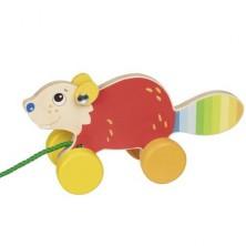 Tahací hračka - Bobr menší dřevěný (Goki)