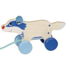 Tahací hračka - Jezevec menší dřevěný (Goki)