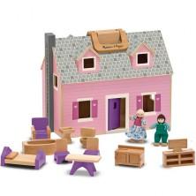 Domeček pro panenky - Přenosný kufříkový (M&D)