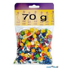 Navlékací perle - Mix perlí barevný 70g (Detoa)