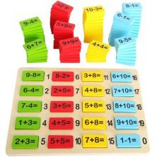 Puzzle výukové - Matematická tabulka počty, 111ks (Legler)