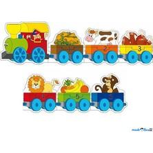Puzzle pro nejmenší - Vlak s čísly a zvířátky, Mašinka (Woody)