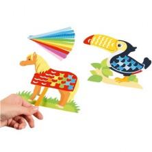 Kreativní sada - Provlékání z papíru, Zvířátka (Goki)