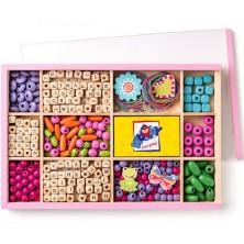Navlékací perle - Set korálků, ABC v krabičce (Woody)