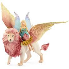 Schleich - Bayala, Elfí víla na okřídleném lvovi
