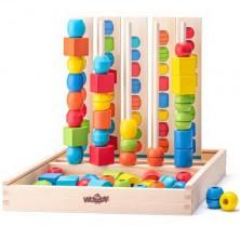 Skládačka - Stohování dřevěných korálků Logik (Woody)
