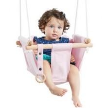 Houpačka - Dětská textilní 100% bavlna růžová