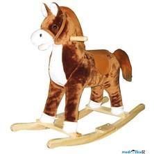 Houpadlo - Houpací kůň plyšový hnědý - střední, (Bino)