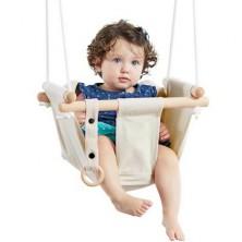 Houpačka - Dětská textilní 100% bavlna béžová