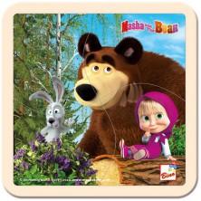 Puzzle pro nejmenší - Na desce, Máša a Medvěd se zajícem (Bino)