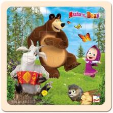 Puzzle pro nejmenší - Na desce, Máša a Medvěd s kozlíkem (Bino)