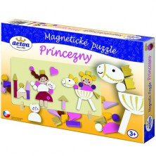 Puzzle magnetické - Princezny dřevěné (Detoa)