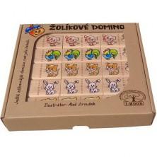 Domino - Masiv, Žolíkové domácí zvířata, 28ks