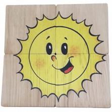 Puzzle pro nejmenší - Maxi, Sluníčko a beruška, 4ks