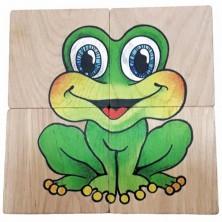 Puzzle pro nejmenší - Maxi, Žába a mrak, 4ks