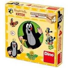 Kostky obrázkové 4ks - Krteček čtyřkostka (Dino)