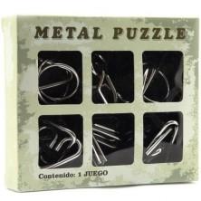 Hlavolam kovový - Set 6ks v krabičce (Teddies)