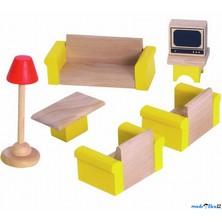 Nábytek pro panenky - Obývací pokoj (Woody)