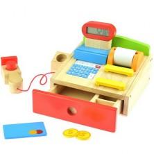 Prodejna - Dětská pokladna multifunkční dřevěná (Goki)