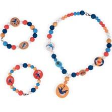 Navlékací perle - Korálky v dóze, Birdy Swallows 220ks (Janod)