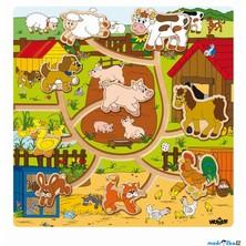 Motorický labyrint - Zvířátka na statku, Mašinka (Woody)