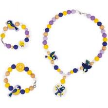 Navlékací perle - Korálky v dóze, Birdy Chickadee 220ks (Janod)