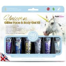 PaintGlow - Třpytky gelové, Sada 6 barev (Chunky Glitter Unicorn)
