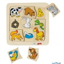 Puzzle výukové - Potrava zvířátek (Goki)
