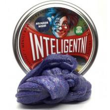 Inteligentní plastelína - třpytící, Hologram modrý