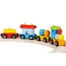 Vláčkodráha vláčky - Miláno vlak dřevěný (Goki)