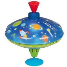 Plechová hračka - Káča 18,5cm, LED vesmír (Goki)