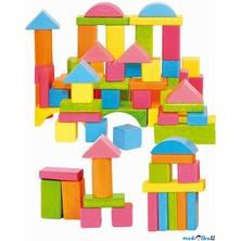 Kostky - Barevné v kyblíku, pastelové, 75ks (Woody)